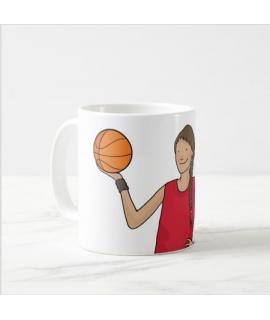 Taza jugadora de baloncesto